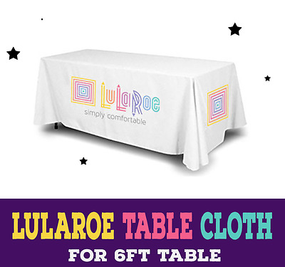 Imprinted LuLaRoe 6ft White Tablecloth