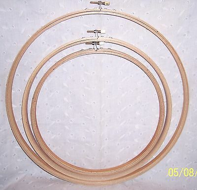 "Embroidery Ring Hoop Wood = 12"" - 10"" Or 9""  = New - Crafts  - Dream Catcher"