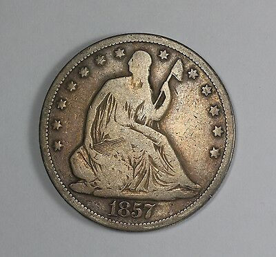 1857-S Liberty Seated Half Dollar U.S. Silver Coin