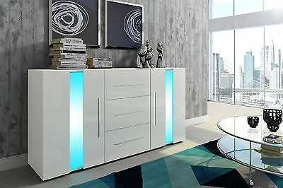 """BRISTOL"" High Gloss Modern Contemporay Sideboard with LED lighting"