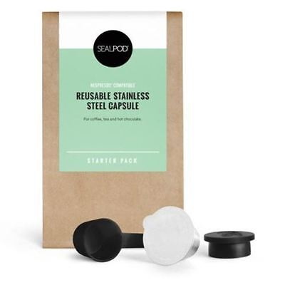 SealPod Reusable Coffee Pods (Nespresso Compatible*) - Starter Pack