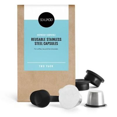 SealPod Reusable Coffee Pods (Nespresso Compatible*) - Two Pack
