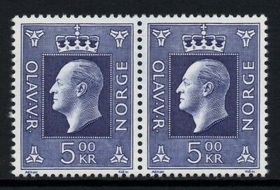 NORWAY 1990 Definitives/King Olav V: Pair of Stamps UM/MNH
