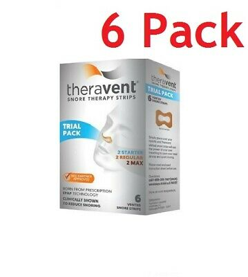 Theravent Snore Therapy Strips, Trial Pack, 6ct, 6 Pack 858076006002A580