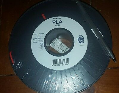 Ultimaker 3D Printer Filament PLA 2.85mm  Red   3 pack * free shipping