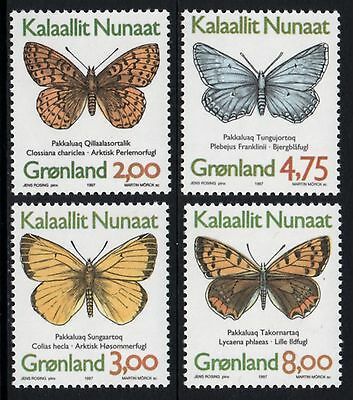 GREENLAND 1997 Butterflies: Set of 4 Stamps UM/MNH