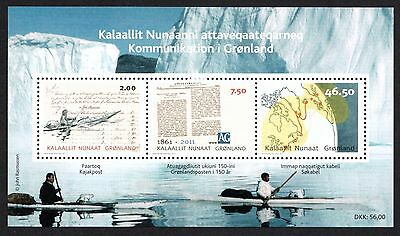 GREENLAND 2011 Communications in Greenland: Souvenir Sheet UM/MNH