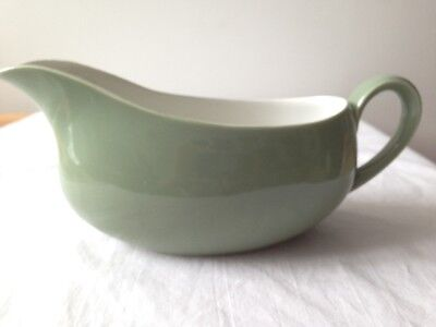 By Ridgway Vintage Gravy Sauce Boat Moss Green Staffordshire Made in England