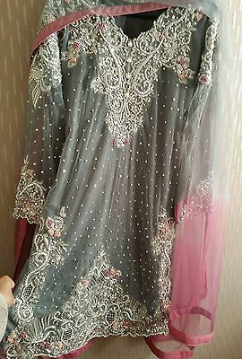 pakistani elan inspired hand embroided dress size S. Ready to wear.
