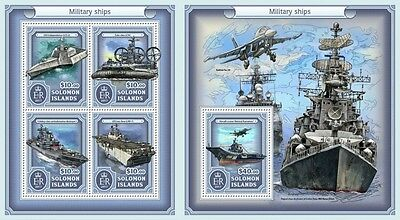Z08 IMPERFORATED SLM17119ab SOLOMON ISLANDS 2017 Military ships MNH ** Postfrisc