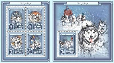 Z08 IMPERFORATED SLM17210ab SOLOMON ISLANDS 2017 Sledge dogs MNH ** Postfrisch S