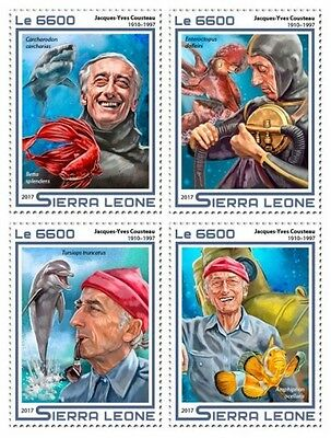Z08 IMPERFORATED SRL17501a SIERRA LEONE 2017 Jacques-Yves Cousteau MNH ** Postfr