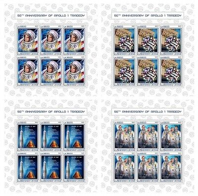 Z08 IMPERFORATED SRL17502c SIERRA LEONE 2017 Apollo 1 tragedy MNH ** Postfrisch