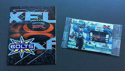 XFL FOOTBALL Pack of Sealed Cards and BIRMINGHAM BOLTS Program Gridiron
