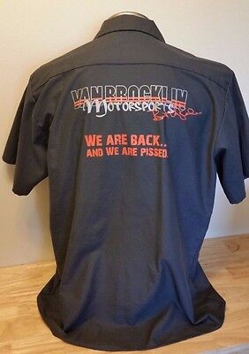 Van Brocklin Motorsports  Mechanic Short Sleeve Button Shirt  X-Large Xl