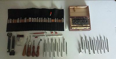 HUGE lot tools cobbler stamps leatherwork bookbinding carving saddlery