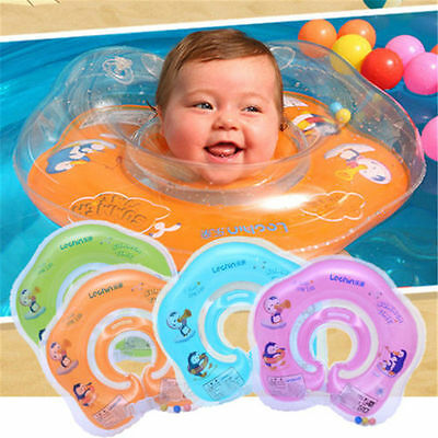 High Quality Newborn Neck Float Double Protection Baby Safety Swimming Ring Pump