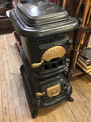 Antique Cast Iron Down Draft, Wood stove Modern No # 20 Nice Condition Display