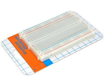 2 x Solderless Bread Board 400 Tie Points, detachable power lanes, adhesive back