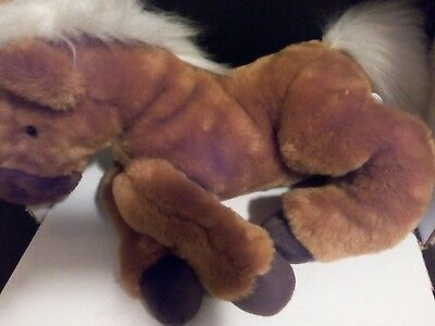 """2000 Animal Alley Horse Plush 14"""" Tall (Toys R Us) (Life-like)"""