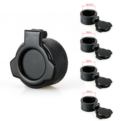 Rifle Scope Cover Flip Up Quick Spring Cap Open Objective Lens Dia 25.4-32mm MKG