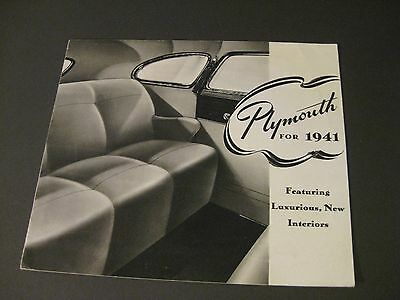 1941 Plymouth Special Deluxe Brochure /