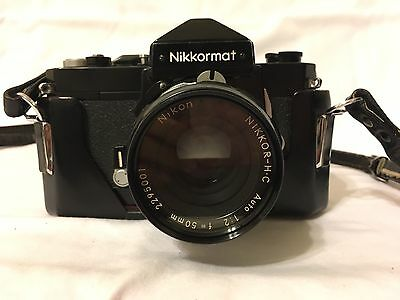 Nikon Nikkormat FTN 35mm Camera and Two Lenses