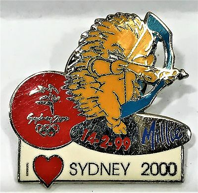 Millie Mascot Archery I Love Sydney Sydney Olympic Games 2000 Pin Collect #945