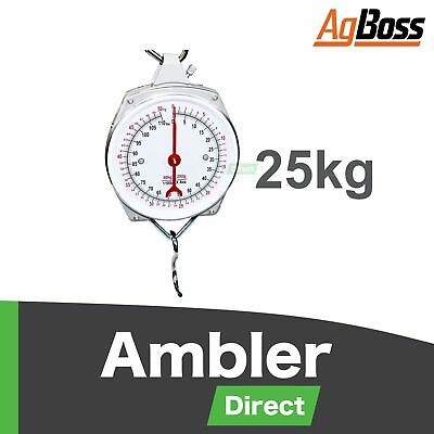AgBoss 25kg Clockface Butchering Hanging Scales Weighing Scale Clock Face