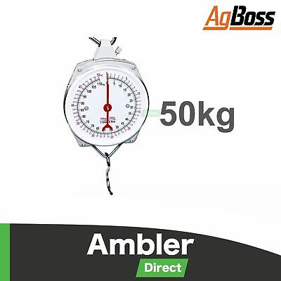 AgBoss 50kg Clockface Butchering Hanging Scales Weighing Scale Clock Face