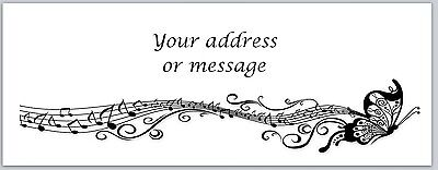30 Personalized Return Address Labels Music Notes Buy 3 get 1 free (bo 761)