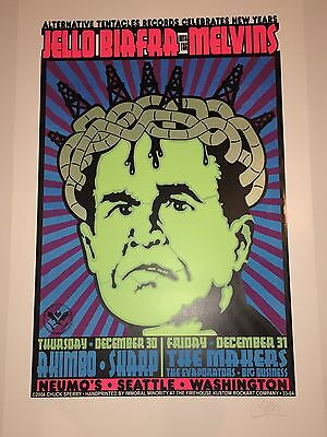 Jello Biafra with the Melvins Concert Poster