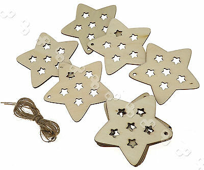 10 X Lovely  Christmas Xmas Tree Hanger Accessories Gift  Star