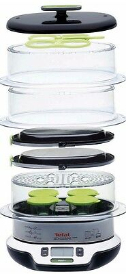 3 Tier Food Steamer Tefal Dishwasher Safe Compact Basket Cooker Stainless Steel