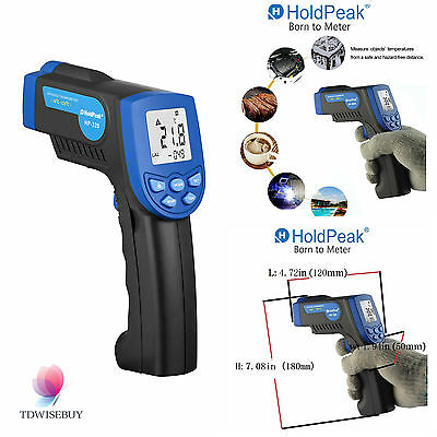 Infrared Laser IR Temperature Heat Meter Gun Thermometer Non-Contact LCD Blue