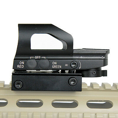 Red Green Dot Sight Tactical Holographic Reflex Metal Scope 21mm Rail Mount