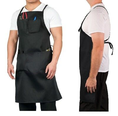 Barber Pro Apron Hair Salon Cape Haircut Hairdressing Clip Tool Holder Workwear