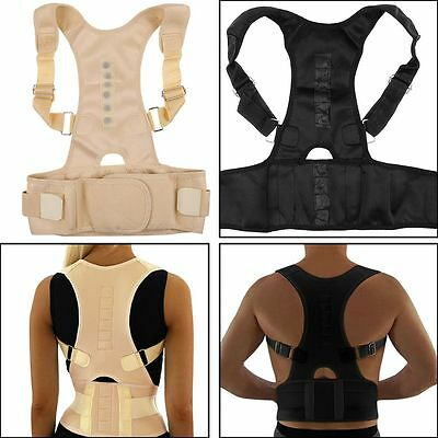 Men Magnetic Therapy Posture Corrector Back Belt Brace Supports Brace Adjustable