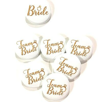 10 pcs Team Bride badge pin wedding shower Bachelorette party favors gift Ring