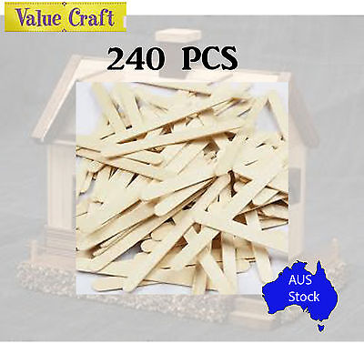 120 PCS Natural Icy Pole Sticks Paddle Pop Stick Arts and Craft Build Sculptures