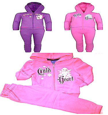 Girls FROZEN Princess Disney Character Hooded Tracksuit Outfit & Set,4 5 6 8 YRS