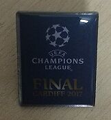 Champions League Final 2017 Cardiff UEFA Pin Badge RARE Brand New