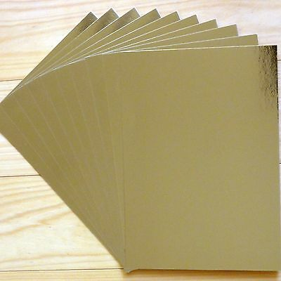 "GOLD FOIL MIRROR CARD BOARD A4 275GSM x 10 SHEETS ""SPECIAL PRICE"" - NEW"