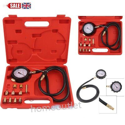 14PC Engine Oil Pressure Test Kit Tester Low Oil Warning Devices Car Garage Tool