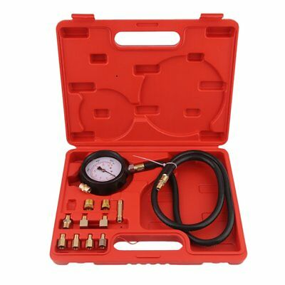 Car Truck Engine Diesel Petrol Oil Pressure Meter Test Tester Gauge Tool Kit UK