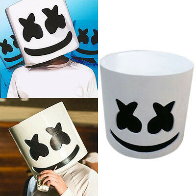Marshmello Mask Cosplay Costume Accessory Helmet for Halloween Party DJ Props