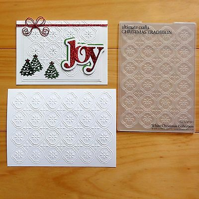 """ULTIMATE CRAFTS EMBOSSING FOLDER 5""""x7"""" CHRISTMAS TRADITION - BNIP"""