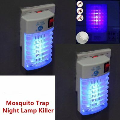 LED Socket Electric Mosquito Fly Bug Insect Trap Night Lamp Killer Zapper WS