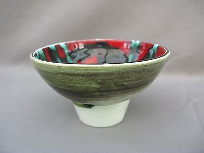 A Poole Pottery Delphis bowl - pattern 38 ? - Christine Tate ?