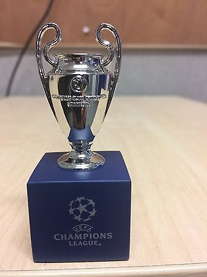 Official UEFA Champions League 3D Mini Replica Trophy on Pedestal